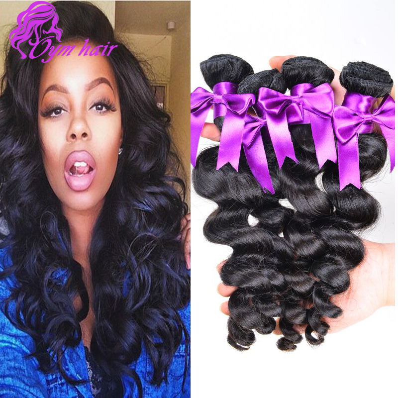 Peruvian Loose Wave 1 Bundle 10A Unprocessed Virgin Hair Loose Wave Natural Peruvian Virgin Hair Human Hair Weave 8 - 28 inch<br><br>Aliexpress