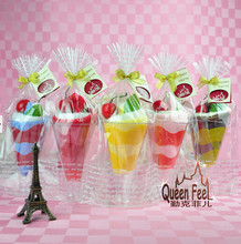 10 cups = 20 towels Christmas Valentine wedding supplies cake towel gift small monochrome ice cream cones 20*20 cm(China)