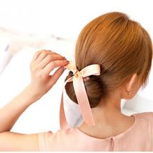 Fashion Magic Hair Styling Tool Ribbon Bow belt Magic French Twist Bun Maker Clip Hook Ponytail HolderFoam Sponge Hair Style
