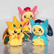 wholesale  Plush Toys Pikachu Backpack accessories Toy Dolls For Girlfriend Best Birthday Gift 10pcs