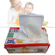 1 Bag/100pcs New Baby Wet Paper Lid Wet Wipes with Cover Wet Tissue Reusable Lid Baby Care Pumping Cover Baby Hand/Mouth Wipes#(China)