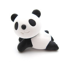 1 pcs Cute animal panda rubber eraser kawaii creative stationery school supplies papelaria girl gift for kids Children's toys(China)