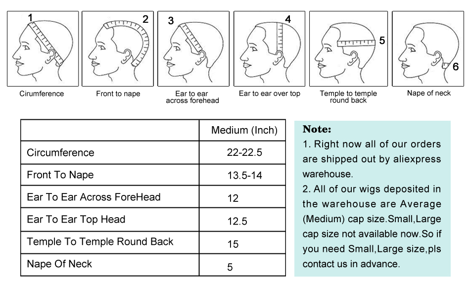 2..How to measure wig