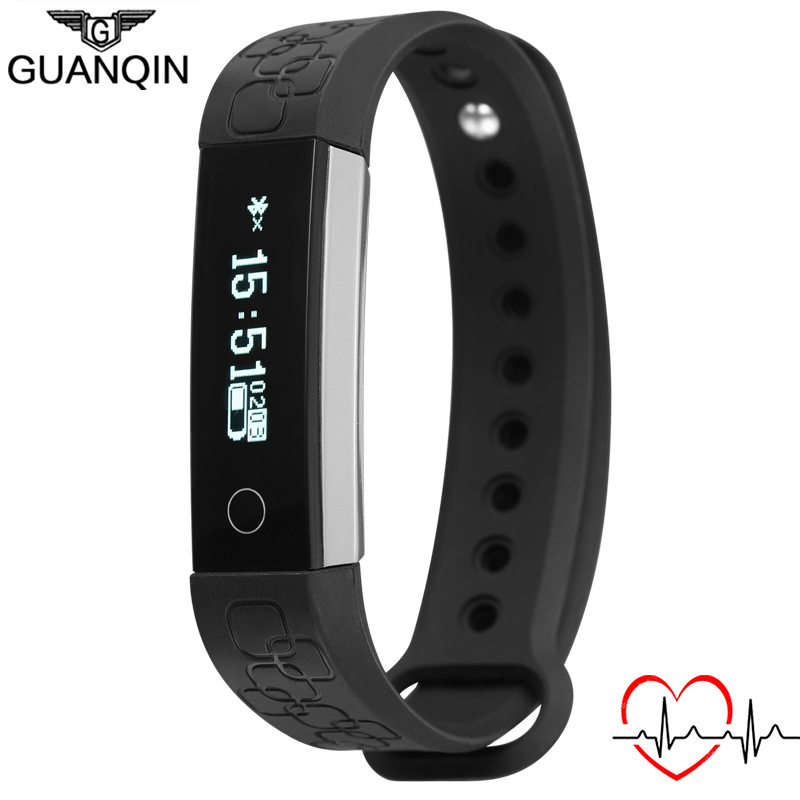 GUANQIN Men&amp;Women Smart Bracelet Band Heartrate Blood Pressure Oxygen Oximeter Sport Bracelet Intelligent For IOS Android R3<br><br>Aliexpress