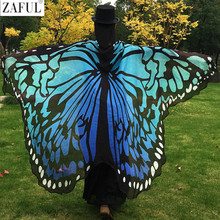 ZAFUL 2017 Pareo Beach Cover Up Butterfly Wing Cape Bikini Cover Up Swimwear Women Robe De Plage Beach Bathing Suit Cover Up(China)