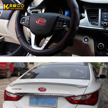 KAWOO Car Sticker For Hyundai Sonata 8 Front Rear Steering Wheel Logo And Back Logo Color Change Interior Car Accessories 1Set