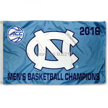 NCAA UNC Tar Heels ACC Mens Basketball Champs Banner College Flag 3X5(China)