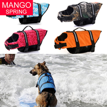 Pet Dog Life Jacket Safety Clothes Life Vest Outward Saver Pet Dog Swimming Preserver Large Dog Clothes Summer Swimwear