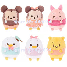 New Tsum Tsum Mickey Minnie Donald Duck Daisy Piglet Plush Pillow For Girls 32CM Kids Stuffed Animals Toys For Children Gifts(China)