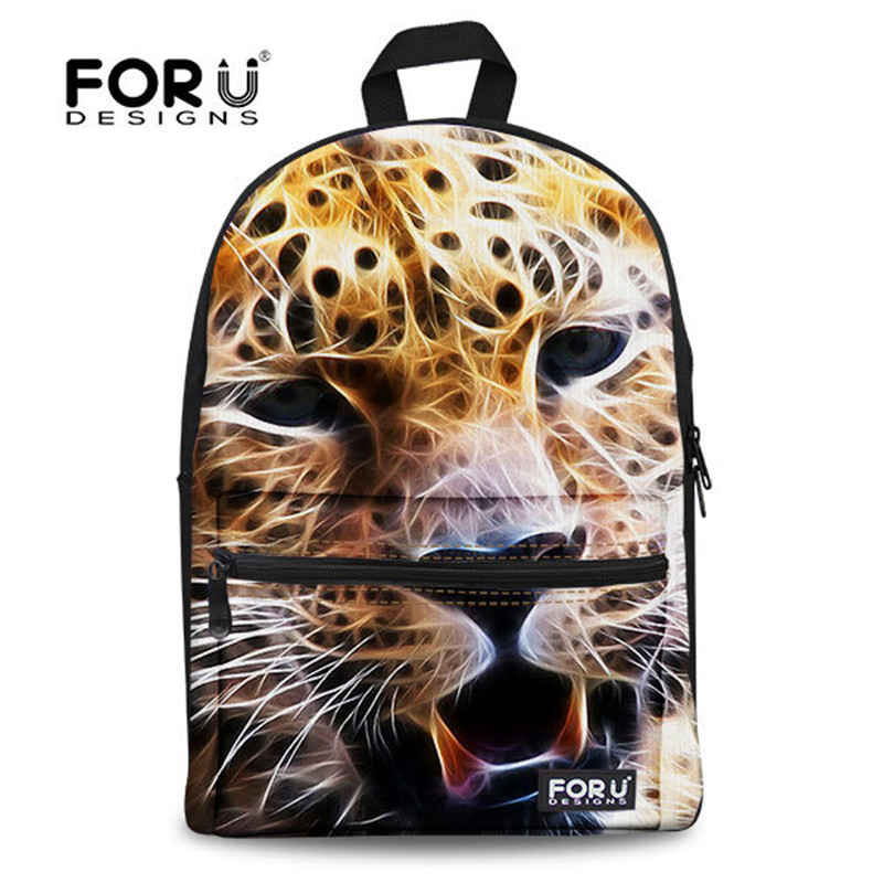 FORUDESIGNS new animal back pack for teenager boys gifts 3d pug dogs school backpacks men bag fashion print tiger head backpack<br><br>Aliexpress