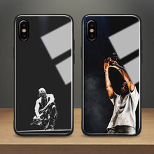 KANYE WEST rapper hiphop Tempered Glass Phone Case Soft Silicone Shell Cover  For Apple iPhone 6 6s 7 8 Plus X XR XS MAX c3e3a5243a74