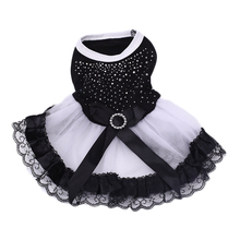 Pet Dog Clothes Doggy Dresses Elegant Spring Summer Clothing Party Wear
