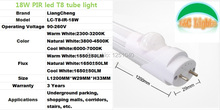 18W Parking lighting IR Sensor LED Tube,Replace the 40w fluorescent lamp tube compatible with inductive ballast remove starter