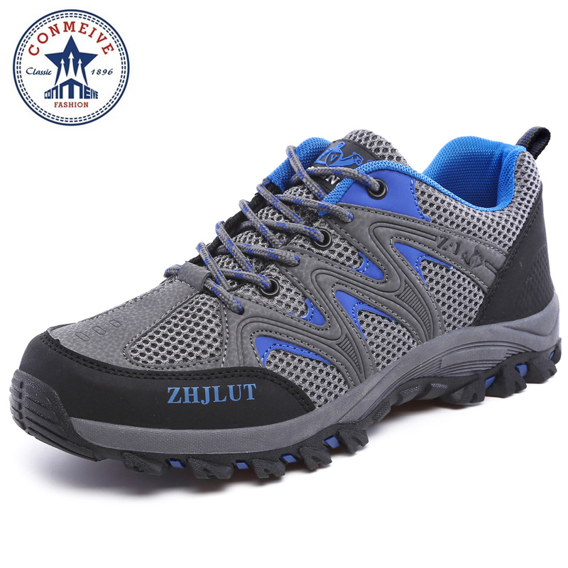 sale outdoor sport boots hiking shoes for men brand mens the walking boot climbing botas breathable lace-up Medium(B,M)<br>
