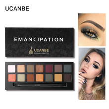 UCANBE 14 Color Matte & Matallic Eyeshadow Palette Glitter Eye Shadow Nude Mineral Light Shades Smoky Makeup Set Beauty Cosmetic(China)