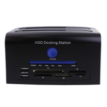 100% Brand New High Quality Mutilfunction 2.5 3.5 SATA Hard Disk Drive HDD Docking Station Clone USB HUB Card Reader