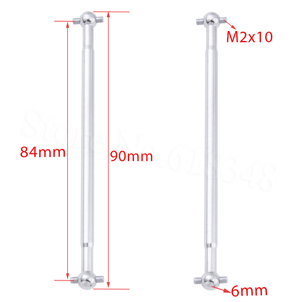 2 x pcs Steel 90mm Dog Bone Drive Shaft 1//10 Front /& Rear for RC Car Truck Buggy
