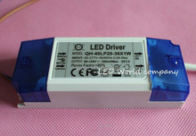 free shipping 1pcs 20W 30W 40W LED Driver 20-36x1W 350mA DC60-120V High Power LED Powr Supply For Floodlight(China)