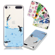 Funda for iPod touch 5 Cute penguin Slim Crystal Clear transparent TPU Silicone Protective sleeve Coque for apple touch 6 skin