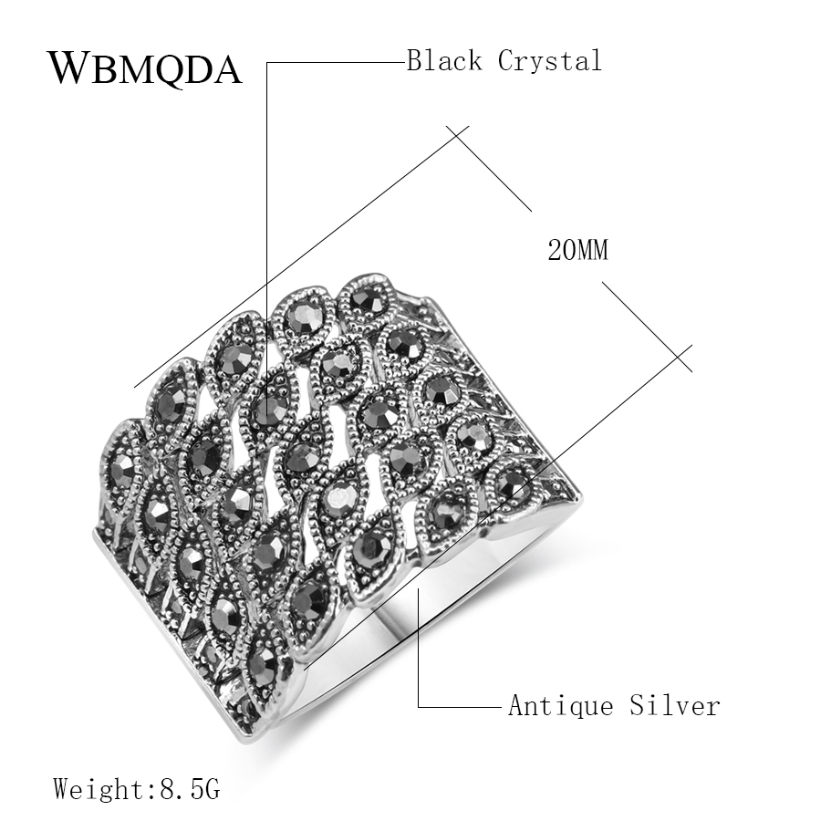 Hot-Bright-Black-Crystal-Ring-For-Women-Fashion-Antique-Silver-Color-Charm-Little-Eye-Punk-Rings
