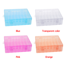 Low price! multi function Hard Plastic 24 Slots Adjustable Jewelry Storage Box Case Craft Organizer Beads