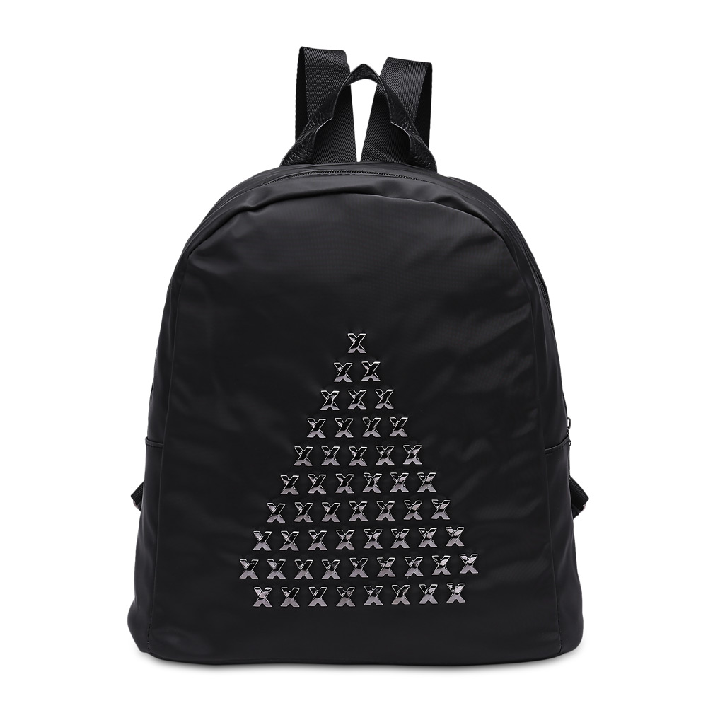 He new fashion strap solid casual male backpack school canvas bag designer backpacks for men<br>