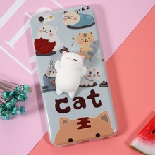 DULCII for iPhone 6s Case Squishy 3D Pinch Poke Silicone TPU Cover for iPhone 6 4.7 inch(China)