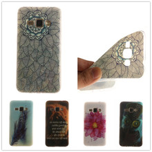 J120 J120F Duos LTE Luxury TPU Gel Soft Protective Phone Case for Samsung Galaxy J1 2016 4.5″ Cover Skin Owl lion flower