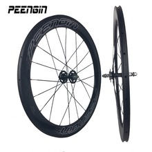 hot wheels tracks factory direct sell 23mm wide 60mm carbon wheelset tubular lightweight rim for track bicycle cycling accessory(China)