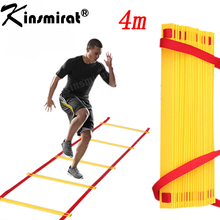 Football Fitness Feet Training 8 section 4 meters long Soccer Training Speed Agility Ladder + Carry Bag Outdoor Equipment ladder