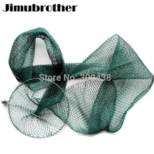 1.5m fishing net nylon fishing tackle Nylon small Mesh Folding network product all for fishing accessories chinese supplier 2pcs(China)