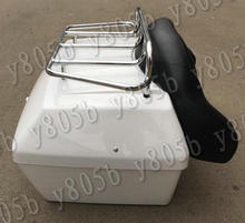 Motorcycle Tail Box Luggage With Top Rack Backrest For Yamaha VStar 400 650 1100 1300 Virago Xv 250 535 750 1100 Road Star