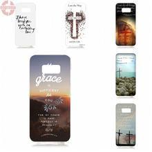 EJGROUP For Samsung Galaxy S8 5.8 inch G950 G950F SM-G9500 Soft TPU Silicon Cell Phone Case Christ Jesus Bible Verse Cross