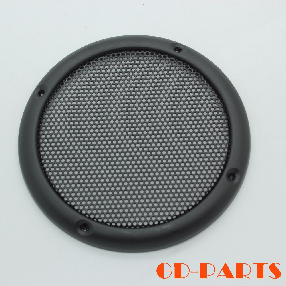 5 Inch Silver Car Audio Speaker Cover Guard Protector with Black Grille