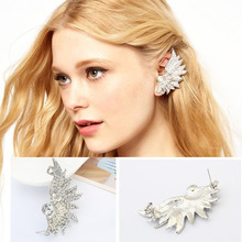 Fashion Korean Personalizd Punk Wing  Earring Rock Silver Clip Ear Cuff Earrings Jewelry C22R18