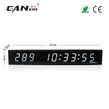 [Ganxin]White Color 1 Inch 9 Digits Hot-Selling Good Service Led Digital Clock with Factory Low Price