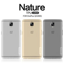 Case For OnePlus 3 One Plus 3T Original NILLKIN Nature Transparent Clear Soft Back Cover Case For OnePlus 3T Three One Plus 3