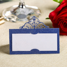 120PCS Wholesale Laser Cut  Place Name Card Wedding Decorative Party Table High Quality Paper Seat Cards Festival Accessories