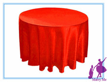 10pcs 90'' round satin Table Clothes Free Shipping(China)