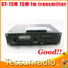 ST-15M 15W FM  Radio FM  Broadcast Transmitter  PLL 88-108MHz adjustable   Free Shipping