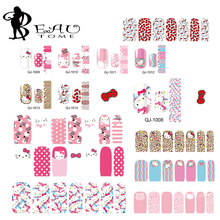 Beautome 14 Manicure Designs Colorful Hello Kitty Nail Stickers, Nails DIY Beauty Decorations Tools For 3D Nail Art QJ1008-1014