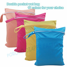 (1pc/lot) Double Pockets Waterproof Portable Multifunctional Diaper Nappy Bags Designed Diaper Wet Bags Organizeror Mum