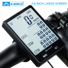 INBIKE 2.8'' Large Screen Bicycle Computer Wireless Bike Computer Rainproof Speedometer Odometer Cycling Measurable Stopwatch(China)