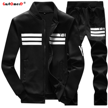 GustOmerD New Tracksuits Fashion Men's Hoodies Men Sweatshirt +Pants Coats Mens Sporting Tracksuits Sportswear Mens Hoodies