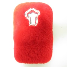 New 2017 Luxury Bling Rabbit Fur Case For LG X CAM/X Screen Back Cover Coque Capa Lady Man Furry Winter Pink Phone Case+Gift Pen