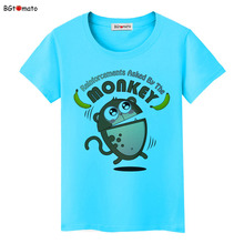 BGtomato Lovely Monkey funny T-shirts Original Brand New clothes Cute cartoon casual shirts women tops tees cheap sale