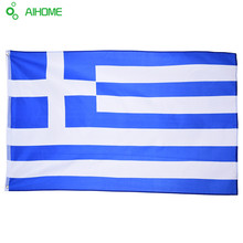 1Piece Greek National Flag 90*150cm Hanging Flags Office/Activity/Parade/Home Decoration Banner For Festivals Olympic Games(China)