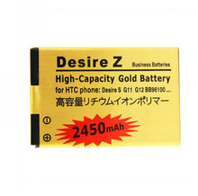 Cisoar 2450mah BG32100 PG32130 BB96100 Gold Replacement Battery For HTC Desire Z Incredible S Desire S Desire 2 G11 G12 S510e G2(China)