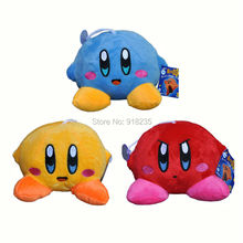 "Free Shipping 1PCS Star New Cute KIRBY Blue / Red / Yellow Plush doll Soft Toy 5""(China)"