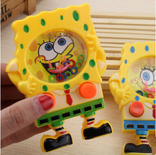 SAINTGI Water Machine Game Sponge Bob Toys Q Version Doll Mini PVC 11CM Hot Sale Traditional Children's Park Cartoon Kids Gift